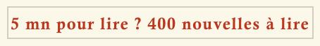 400 nouvelles à lire sur monbestseller