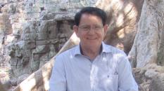 Porte de la Victoire à Angkor Tom, où furent écrites les pages de mon récit.