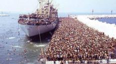 Réfugiés Albanais en Italie en 91