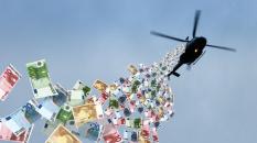 Heureusement, l'hélicoptère à monnaie va tout régler...