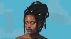 Enheduanna est la fille d'une prêtresse sumérienne, reconnue comme premier poète  de l'humanité (Marina Martin Concept Art  Illustration)