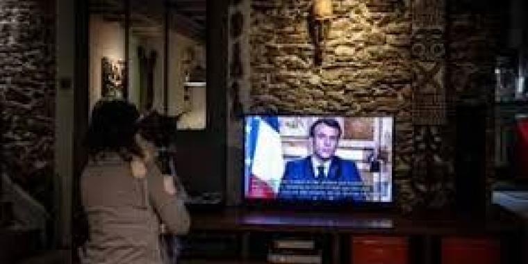 Emmanuel Macron le 16 mars
