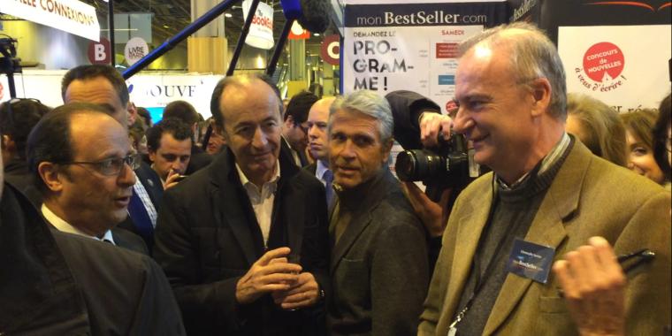 François Hollande inaugure Livre Paris 2016 et visite le stand monBestSeller